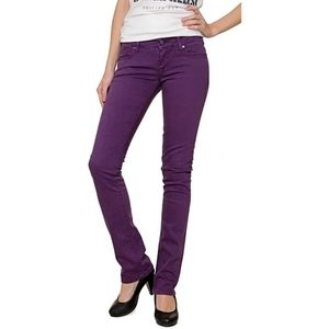 NWT Guess jeans purple stretch